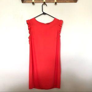 Cynthia Rowley orange ruffle dress